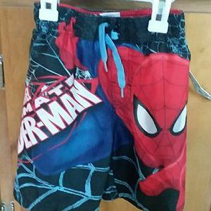 Spiderman swim trunks